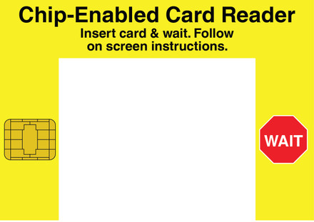 CVD20-20 - Chip-Enabled Card Reader Insert card & wait...