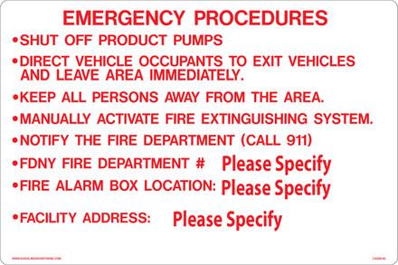 CAS09-06 Aluminium Sign - Emergency...