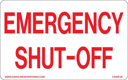 CAS09-05 Aluminium Sign - Emergency...