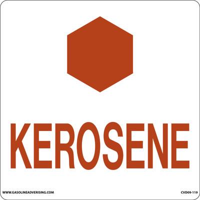 CAS09-12 Aluminium Sign - Kerosene