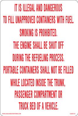 CAS09-18 Aluminium Sign - It is Illegal...
