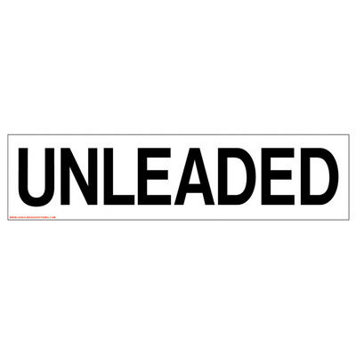 D-302 Pump Ad. Panel Decal - UNLEADED
