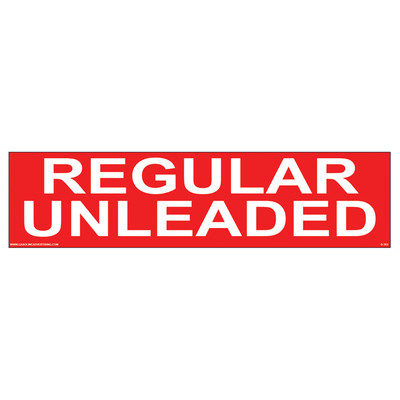 D-303 Pump Ad. Panel Decal - REGULAR UNLEADED