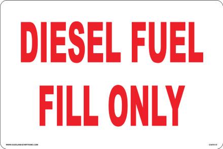 CAS10-31 Aluminium Sign - Diesel...