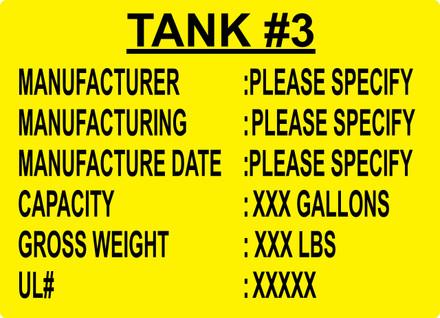 CAS10-36 Aluminium Sign - Tank #3...