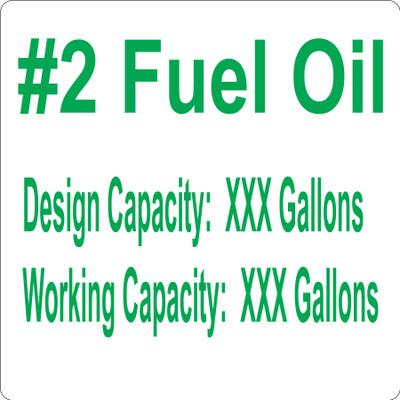CAS10-41 Aluminium Sign - #2 Fuel Oil...