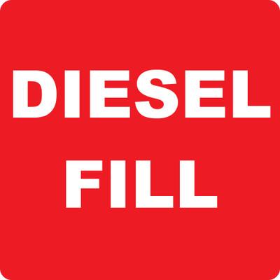 CAS10-43 Aluminium Sign - Diesel Fill