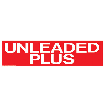 D-305 Pump Ad. Panel Decal - UNLEADED PLUS