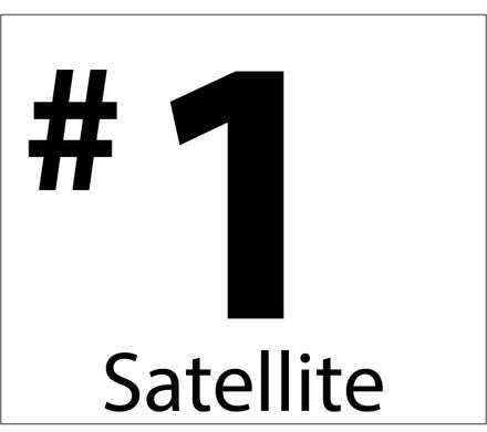 D-43-SAT1-BW Miscellaneous Decal - #1 Satellite