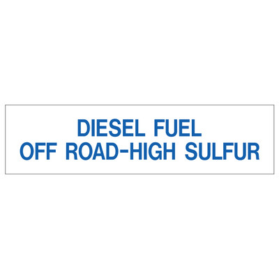 D-326 Pump Ad. Panel Decal - DIESEL FUEL OFF...