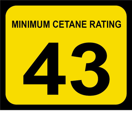 D-20-43 Octane & Cetane Rating Decal - MINIMUM CETANE...