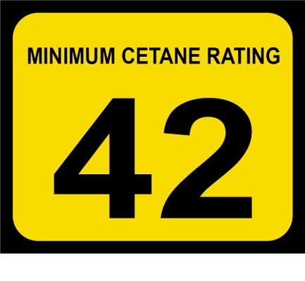 D-20-42 Octane & Cetane Rating Decal - MINIMUM CETANE...