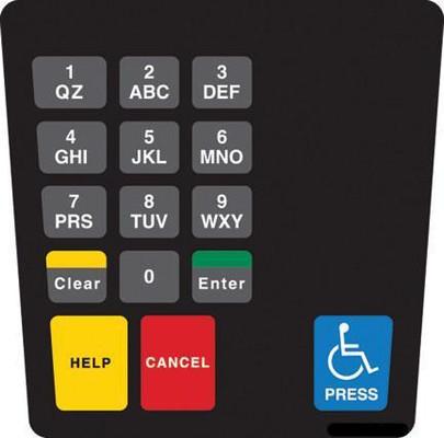 GA-ENE1701G002 Keypad Overlay