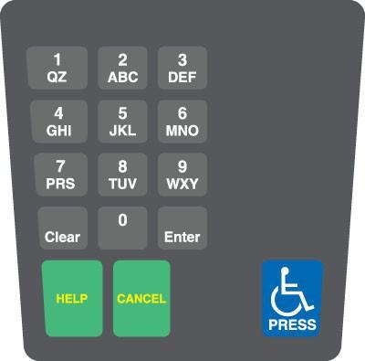 GA-ENE1701G003 Keypad Overlay
