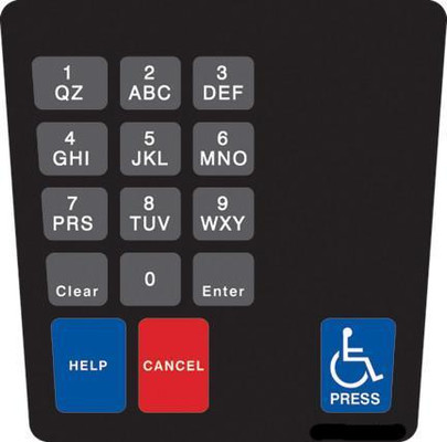 GA-ENE1701G006 Keypad Overlay