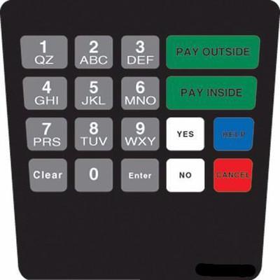 GA-ENE1701G021 Keypad Overlay