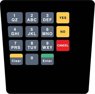 GA-ENE1701G031T Keypad Overlay