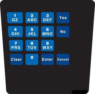 GA-ENE1701G0G1 Keypad Overlay