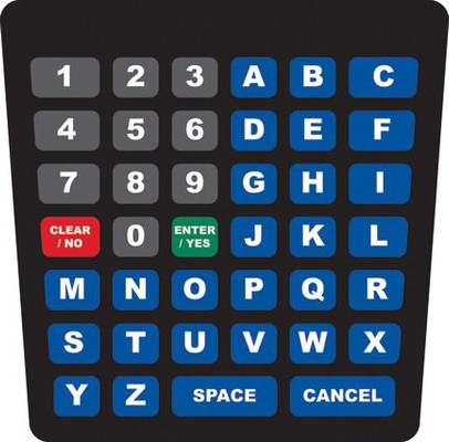GA-ENE1702G001 Keypad Overlay