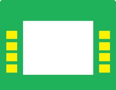 GA-EU01003G005G Monochrome Soft Key Overlay