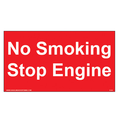 D-36 Fueling Instructions Decal - NO SMOKING...