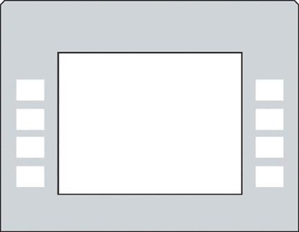GA-EU01003G055 Monochrome Soft Key Overlay