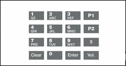 GA-EU03001G009 Keypad Overlays