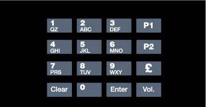 GA-EU03001G018 Keypad Overlays