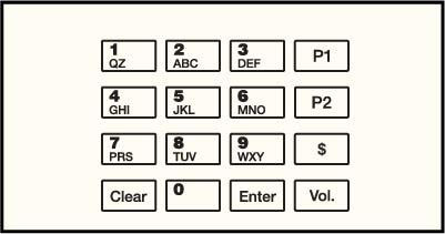 GA-EU03001G037 Keypad Overlays