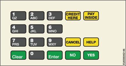 GA-EU03004G147 Keypad Overlays