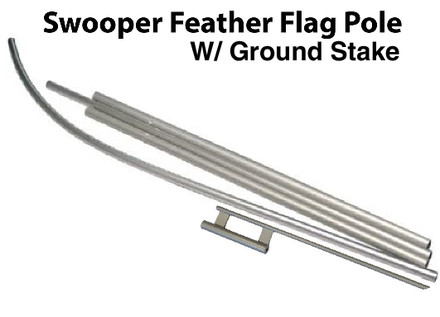 Swooper Feather Flag Pole for Outdoor Use