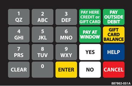 GA-887862-051A Ovation Keypad Overlay