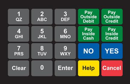 GA-887862-091 Ovation Keypad Overlay