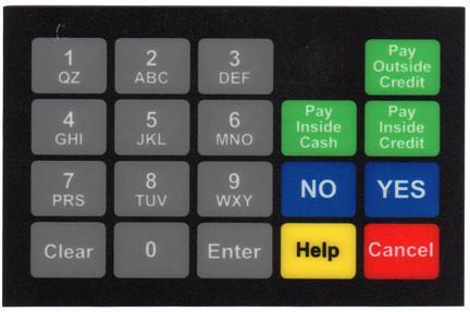 GA-887862-091ND Ovation Keypad Overlay