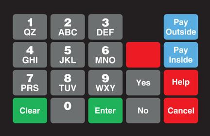 GA-887862-0G1 Ovation Keypad Overlay