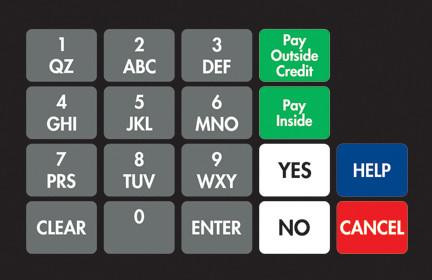 GA-887862-0G7 Ovation Keypad Overlay