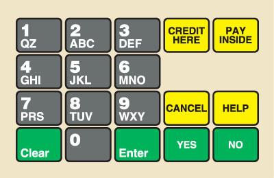 GA-887862-BP1 Ovation Keypad Overlay