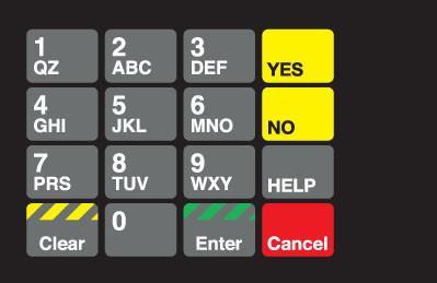 GA-887862-GR1 Ovation Keypad Overlay