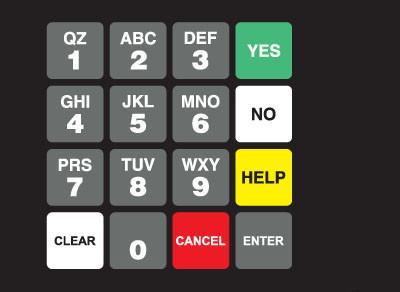 GA-887862-SUN1 Ovation Keypad Overlay