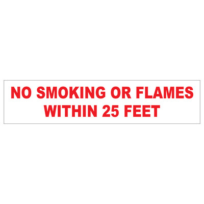 D-41 AST & Bulk Fuel Plant Decal - NO SMOKING...