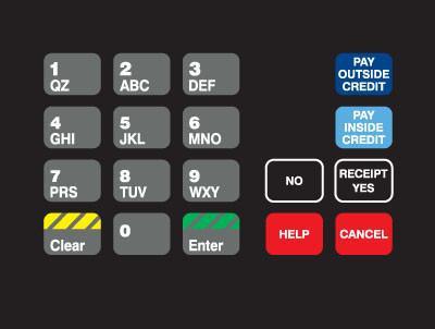 GA-T18724-05NC Keypad Overlay