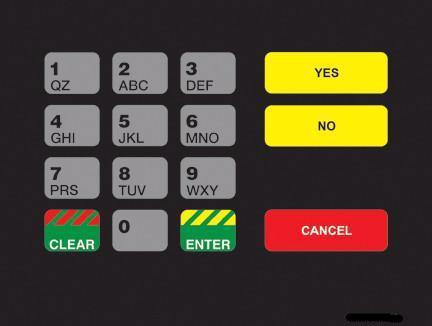 GA-T18724-1009 Keypad Overlay