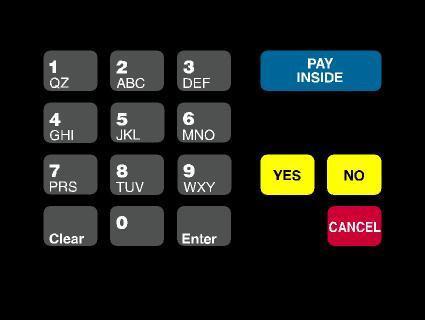GA-T18724-1011 Keypad Overlay