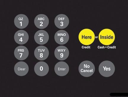 GA-T18724-1017 Keypad Overlay