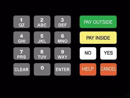 GA-T18724-1031 Keypad Overlay