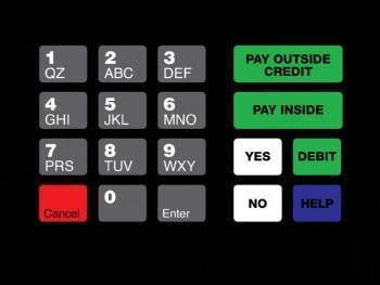 GA-T18724-1041 Keypad Overlay