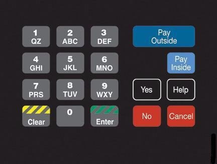 GA-T18724-1043 Keypad Overlay