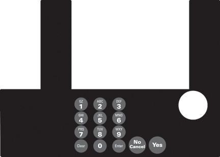 GA-T50038-00 Infoscreen Keypad Overlay