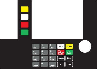 GA-T50038-01CSK Infoscreen Keypad Overlay