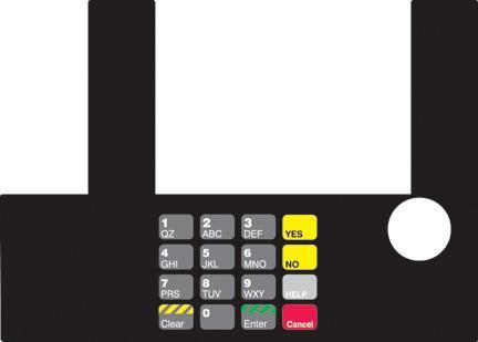 GA-T50038-03 Infoscreen Keypad Overlay